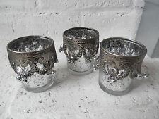 Unbranded Glass Antique Style Candle & Tea Light Holders