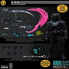 MEZCO ONE:12 KRIG 13 BLACK SPARTAN EXCLUSIVE SOLD OUT AUTHENTIC SEALED FIGURE!