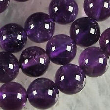 AAA+++ 10mm Natural Russican Amethyst Round Gemstone Loose Beads 15''