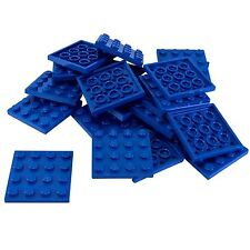 15 New Lego Plate 4 x 4 Bricks Blue
