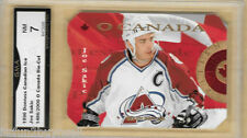 1996 97 DONRUSS CANADIAN O CANADA Sakic 1 of 16 1486/2000 Graded GMA 7 NM