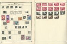 Malaya & Malaysia States Stamp Collection on 10 Scott Album Pages To 1981