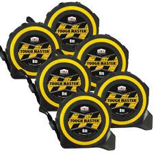 Toughmaster Pocket Tape Measures Metric/Imperial 8M/26ft Anti-Impact Pack of 6