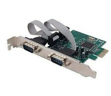 PCI-e PCI Express To 2-Port DB9 Serial Controller Card