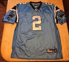 RARE Mens Carolina Panthers Jimmy Clausen Reebok STITCHED Jersey Size 52