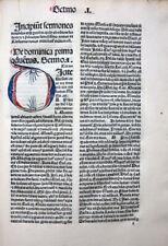 SELTENE INKUNABEL STRASSBURG PETRUS DE PALUDE SPÄTGOTISCH KLOSTER ST. PETRI 1486