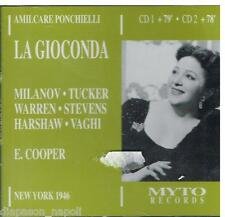 Ponchielli: La Gioconda / Milanov, Tucker, Warren Met 1946 - CD Myto