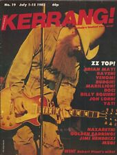 KERRANG! #19 JUL 1982: ZZ TOP Queen BLUE OYSTER CULT Deep Purple BILLIE SQUIER