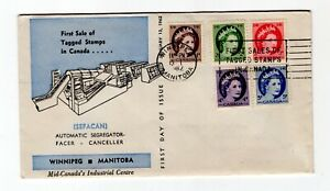 Canada 1962 Tagged Wildings #337p- 41p  FDC  blue Bileski cachet unaddressed