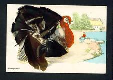NOVELTY – FEATHERED BIRD – 'TURKEY' - HANDGEMALT – UNUSED
