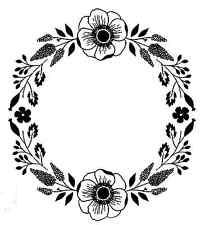 Tampon décoratif : COURONNE FLEURIE - TB 129-58