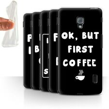STUFF4 Gel/TPU Case/Cover for LG Optimus F6/Funny Girl/Woman Quote