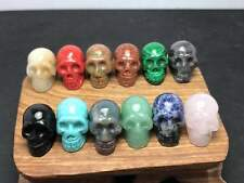 12pcs  Natural Many varieties Quartz Crystal Skull Carving Reiki Healing