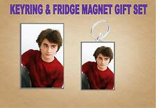 Daniel Radcliffe Key Ring & Fridge Magnet Set