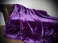 Tagesdecke Kuscheldecke Decke Glanz-Design violett