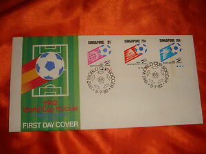Singapore 1982 World Cup Soccer FDC, Free Local Postage