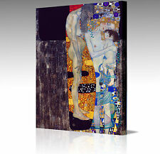 "Large 16x12"" GUSTAV KLIMT 3 Ages of Woman Mother Child  Canvas Art Picture Print"