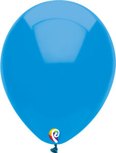 "BLUE BALLOONS 30cm (12"") OCEAN BLUE FUNSATIONAL LATEX BIRTHDAY PARTY BALLOONS"