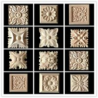 10x Holz Schnitzerei Verzierungen Ornamente Holzzierteile Holzornamente Möbel