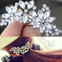 Women Sweet Hair Accessories Hot Flower Rhinestone Hair Clip Headwear Hairpin