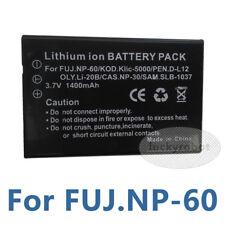Battery for FUJIFILM NP60 CASIO NP30 PENTAX DL12 NP-60 NP60 3.7V 1400mAh
