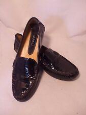 Van Eli Black Patent Leather Moccasin Loafer Slipon Flats size 7.5A