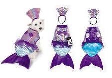 Iridescent Mermaid Dog Costume Mythical Blue Purple Shimmery Shell Top - Medium