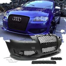 FRONT BUMPER FOR AUDI A3 8P 05-08 RS3 LOOK BLACK SPOILER BODY KIT NEW
