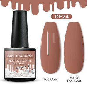 Meet Across Spring UV Gel Nail Polish Soak Off Manicure Nude 24 Nails 6ml DIY