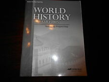 Abeka WORLD HISTORY AND CULTURES test/map Project key homeschooling teacher