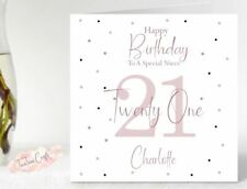 Personalised Birthday Card Sister Niece Granddaughter 13th 16th 18th 21st 30th