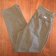 Polo Ralph Lauren Chino Khaki Pants Sage Green Cotton Pleated size 33 X 33