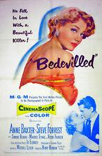 BEDEVILLED 1955 Anne Baxter Cinemascope US 1-SHEET POSTER