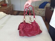 Large Bolzano red leather bag