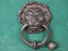 Großer schwerer Türklopfer schöner Löwenkopf aus Eisen Löwe Antik-Stil