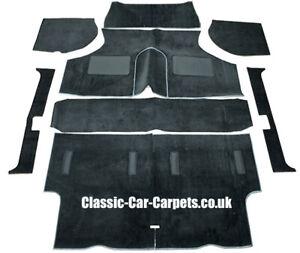 AUSTIN MINI - MORRIS MINI CLASSIC CARPET SET - NEW - BLACK