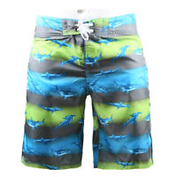 Men's Vacation Beach Swim Trunks Elastic Lined Surfing Comfort Blue Board Shorts