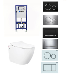 Geberit Voghera Rimless Wall Hung Toilet Suite Package Concealed Cistern