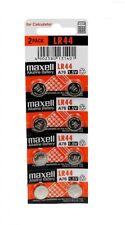 Fresh Genuine Maxell LR44 (A76) 357 1.5V Alkaline Coin Cell Button Batteries x 8
