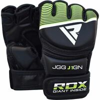 RDX Kids MMA Gloves Grappling Martial Arts Fighting Youth Maya Hide Leather New