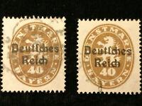 """Deutsches Reich Dienstmarken 1920 - MiNr.39 Plattenfehler """"lange Schnauze"""" links"""