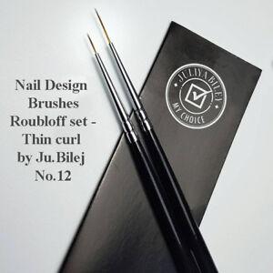 Nail Design Brushes - Roubloff set - Thin curl by Ju.Bilej No.12