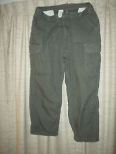 CARHARTT DUNGAREE FIT CARGO JEANS 46X30 ARMY GREEN COLOR