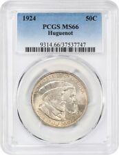 1924 Huguenot 50c PCGS MS66 - Silver Classic Commemorative