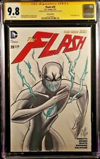 FLASH #39 CGC SS 9.8 ORIGINAL ART SKETCH BLACK PROFESSOR ZOOM REVERSE JUSTICE