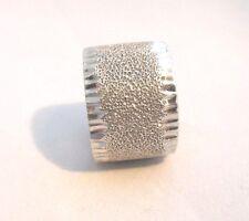 QVC Ring Vicenza Silver 925 Milor Deep Satin Finish Diamond Cut Boarders Sz 9