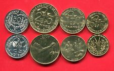 WEST AFRICAN STATES 5 10 25 50 FRANCS 2000-2008 UNC COIN SET OF 4