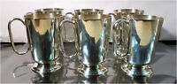 6 x POSTON LONSDALE Silver Plated Cups Set, Sheffield England