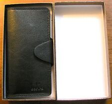 Black Leather Wallet Bifold (26 Credit Card Holders) Clutch Purse by Boshiho NEW