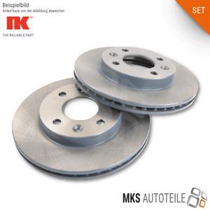 2x NK Bremsscheiben, Bremsen SET/Satz für AUDI SEAT SKODA VW